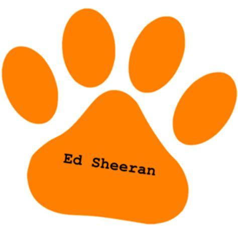 ed sheeran logo orange paw ed sheeran text clip art at clker com vector