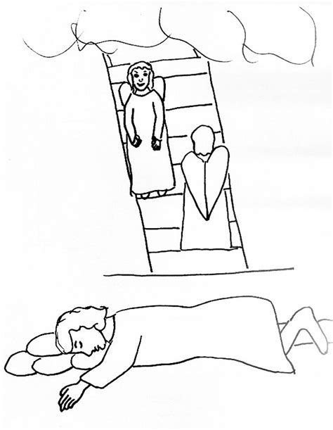 free bible coloring pages jacob s ladder bible story coloring page for jacob s ladder free bible