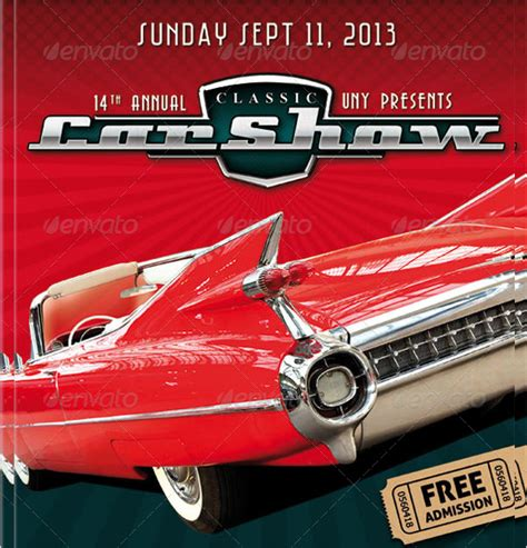 car show flyer template car show flyer template 20 in vector eps psd