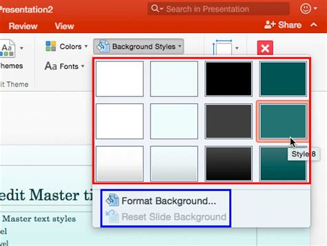 themes slideshow ck change background styles for slide layouts in powerpoint