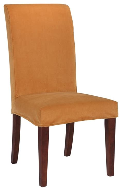contemporary dining chair slipcovers of slip slipcover for dining chair butternut gold velvet contemporary slipcovers and