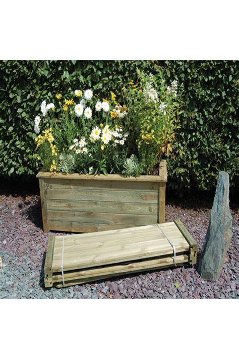 Outdoor Rectangular Planters Large by Forest Garden Large Rectangular Bamburgh Planter Kit
