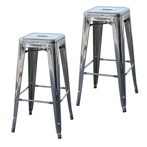 Stackable Bar Stool by Amerihome Loft Style 24 In Stackable Metal Bar Stool In