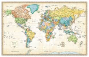 wall map 30x50 rand mcnally style classic world wall map mural