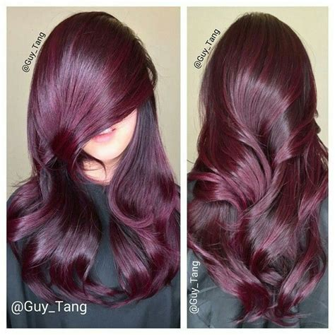 black hair to raspberry hair amazing raspberry hair by guy tang guy tang glow in the