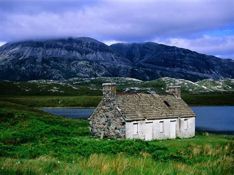 highland cottage beautiful country scotland wallpapers wallpapers