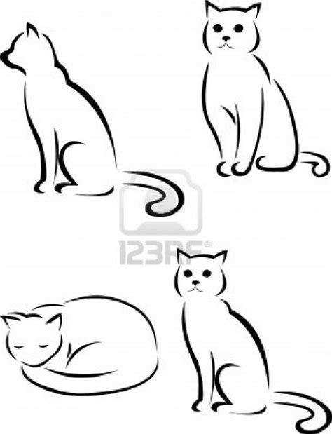 outline sleeping cat tattoo best 25 cat silhouette tattoos ideas on