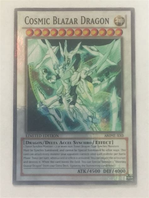 yugioh anime only card lot of 2 number c1000 numerronius yugioh special anime only card lot of 1 cosmic blazar