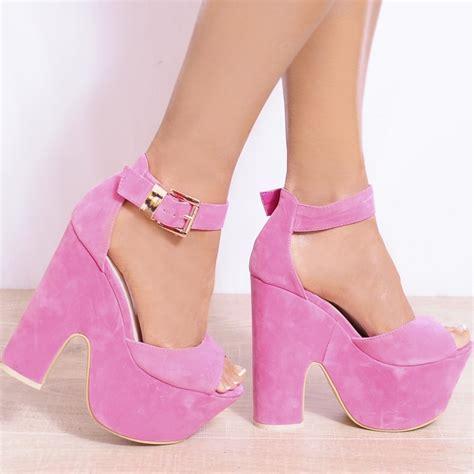 High Heels Brukat Crem Pink Pink Gold Metal Ankle Cuff High Heel Stilettos