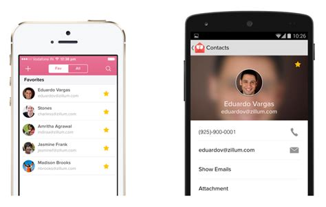 mobile phone contacts unleashed zoho mail app for ios and android phones 171 zoho