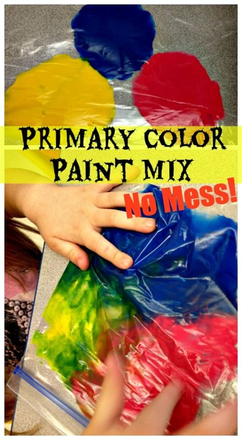 primary color paint mix mess free