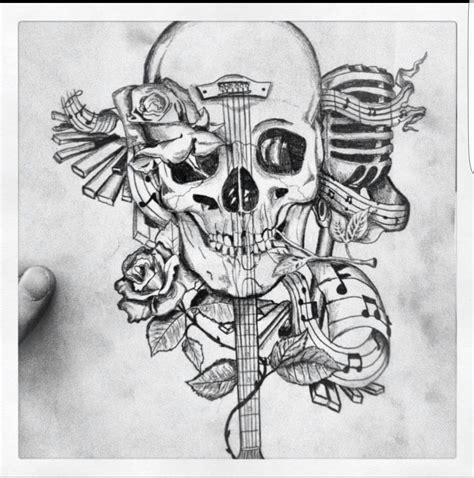 skull music note tattoo designs skull design what i want