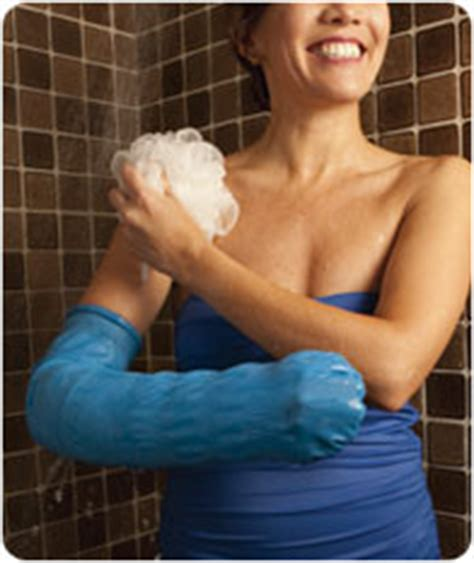 Showering With A Cast by Castcoverz Fashion Leg Cast Cover Receives