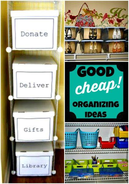 cheap organization cheap organizing ideas crafts