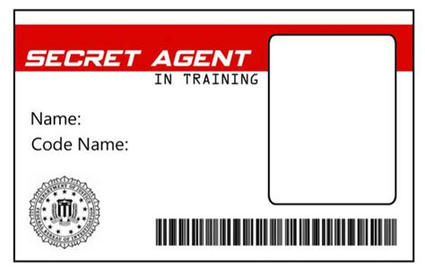 Detective Identification Card Template For by Green Gourmet Giraffe Detective Magnifying
