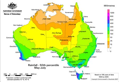 australian in july in contrast the chances of receiving below normal