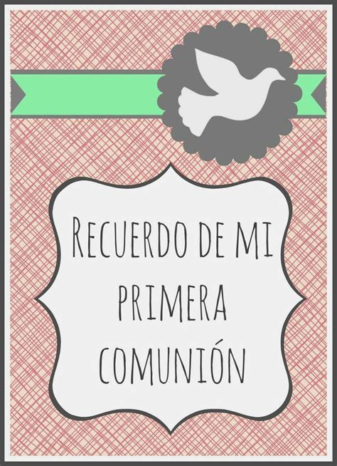 imprimibles primera comunin gratis recordatorio de primera comuni 243 n para ni 241 a gratis www