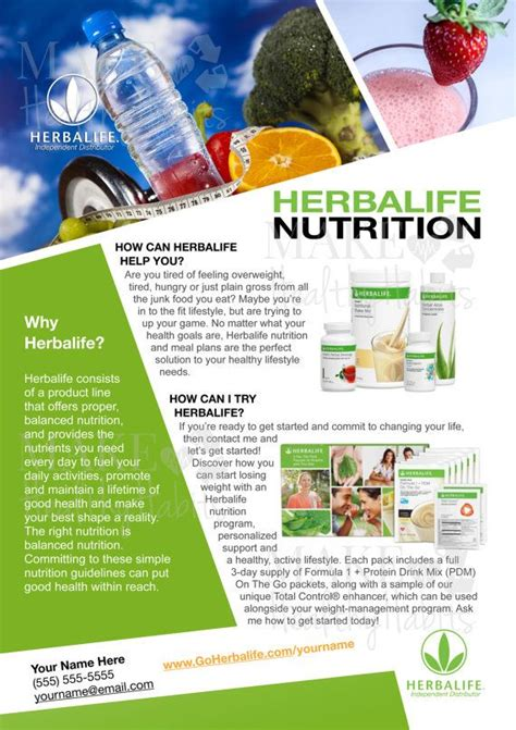 flyer template nutrition 17 best how to build my herbalife business images on