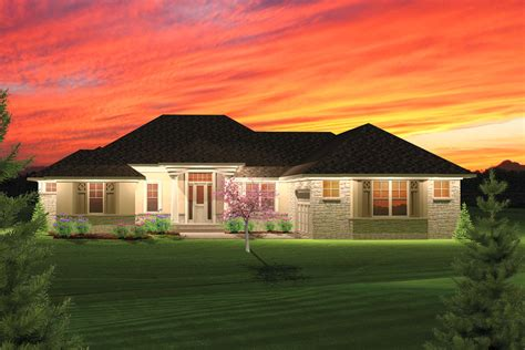 hip roof ranch house plans 2 bedroom hip roof ranch home plan 89825ah 1st floor