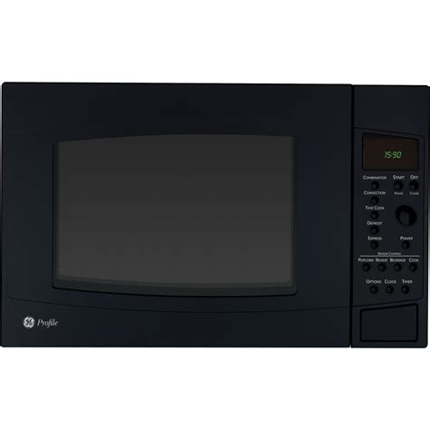 Ge Convection Microwave Countertop shop ge profile 1 5 cu ft 1 000 watt countertop convection microwave black at lowes