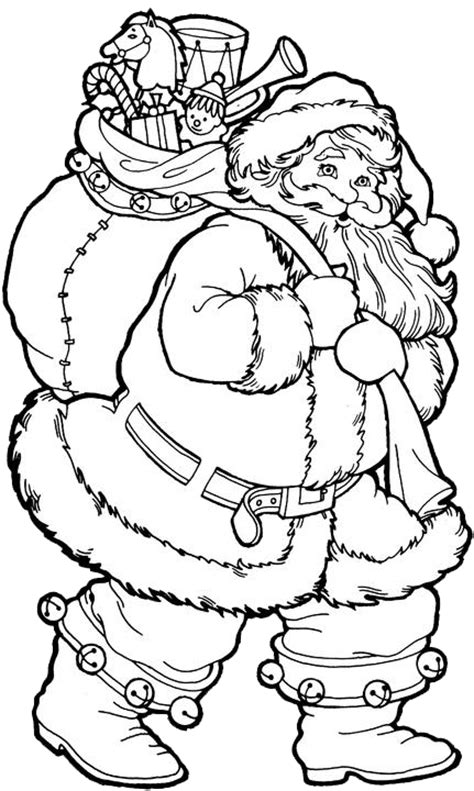 Vintage Santa Claus Coloring Pages Santa Clause Coloring Page