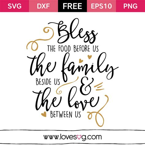 Sweet Designs Kitchen by Bless The Food Before Us The Family Beside Us Amp The Love