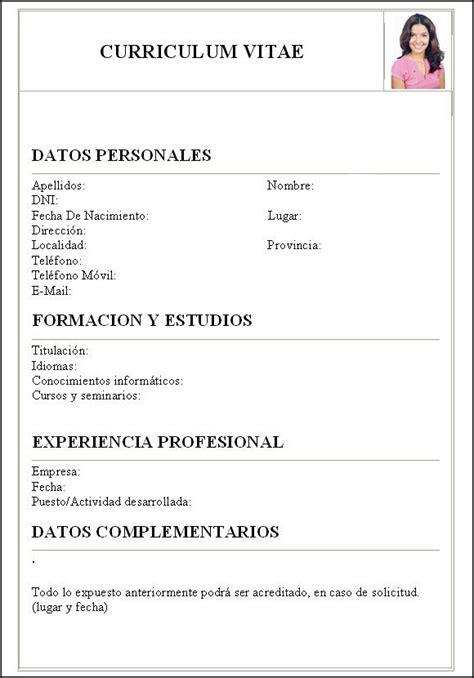 Plantillas De Curriculum Vitae Simple Para Completar C 243 Mo Hacer Una Carta Curriculum Como Hacer