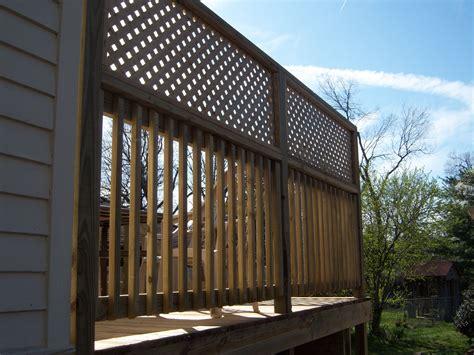 Deck Railing Designs With Lattice - deck with privacy lattice on railing wood decks deck