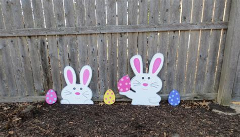 Easter Bunny Outdoor Yard Decoration Easter Bunny Outdoor Yard Decoration Set By
