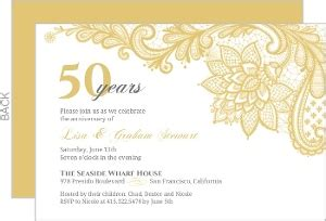 Wedding Anniversary Objects by 50th Wedding Anniversary Invitations 50th Wedding