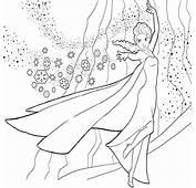 Kleurplaat Frozen Ijskasteel  Idee&235n Over Kleurpaginas