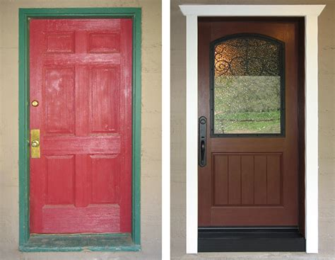 before and after door projects national builders supply