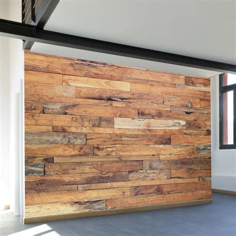 Wall Sticker Wood Motif Wps067 Trendy Storefront 4 Panels 93 Quot Width Walls Need Touch Of Modern