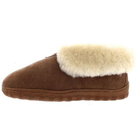 mens sheepskin slippers australia mens rubber sole genuine australian sheepskin fur cuff