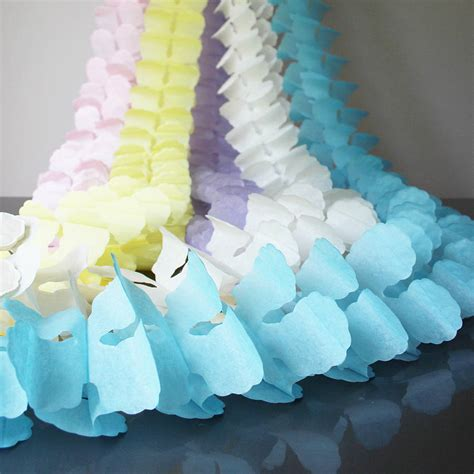 How To Make Paper Bunting Garland - paper tissue garland decorations by pearl and earl