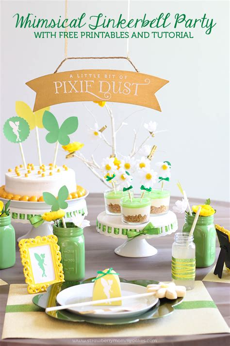 free printable tinkerbell party decorations whimsical tinker bell party with free printables and