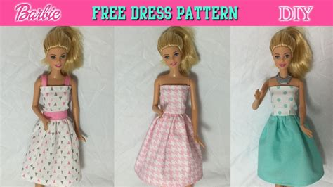 clothes diy easy to sew barbie dress tutorial how to make doll clothes free pdf pattern printable
