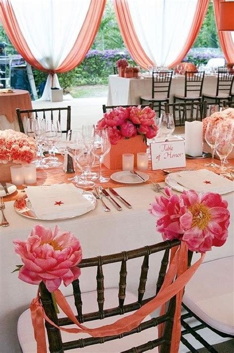 coral colored table ls 16 best coral wedding decor images on coral