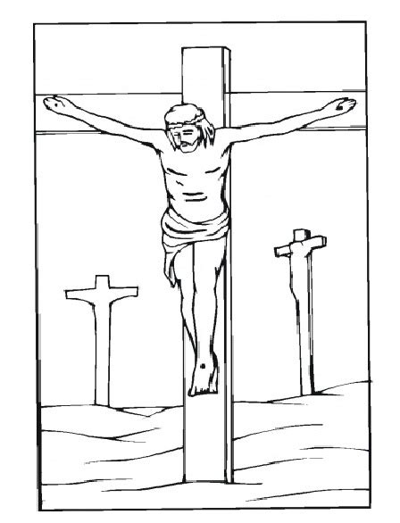 coloring page jesus cross good friday coloring