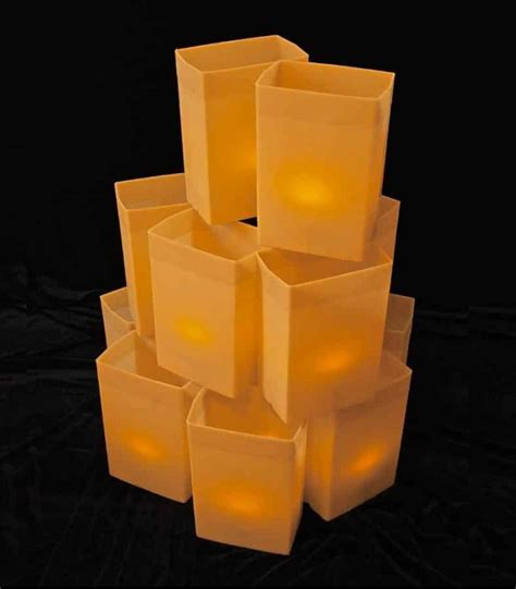electric luminaries for christmas set of 12 brown luminarias flic luminaries