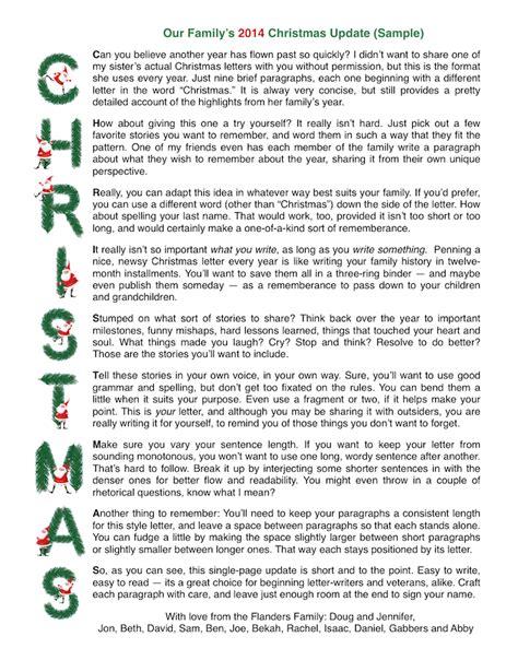 sample acrostic christmas letter   printable stationery  wwwflandersfamilyinfo