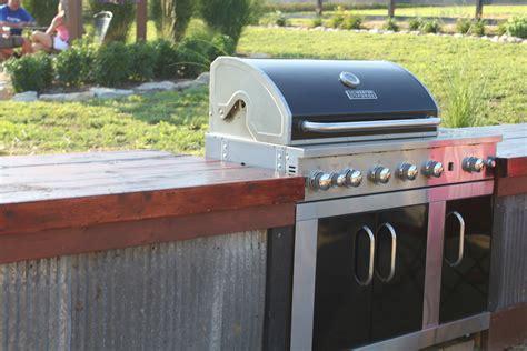 Outdoor Wood Countertop Ideas outdoor summer barn kitchen completed world garden farms