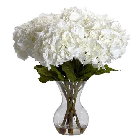 large silk hydrangea arrangement in vase 1260
