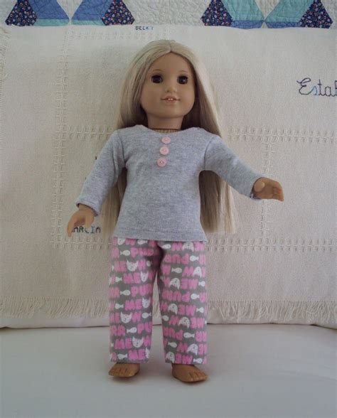 pinterest pattern doll easy pajamas for american girl doll 18 quot 48 cm free