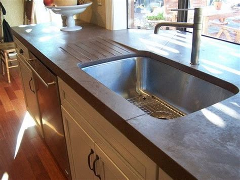 Concrete Countertops Cost Comparison by Concrete Countertop Ideas And Exles Part 2 Of 2