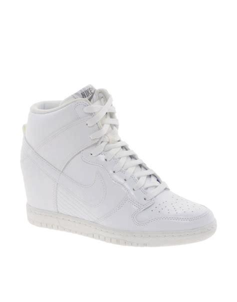 Nike Wedges Sky Dunk Colour Kode Ss6186 nike nike dunk sky hi white wedge trainers