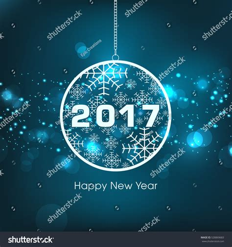 happy new year 2017 text happy new year 2017 text design stock vector 528869683