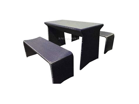 picnic table and bench set rattan picnic table and bench set outdoor furniture