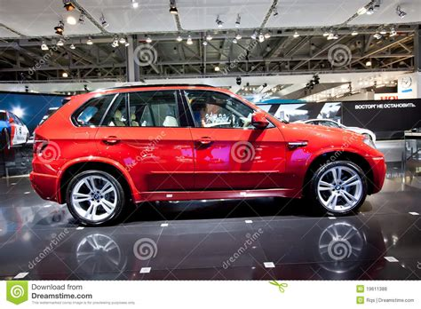 cars bmw red red jeep car bmw x5 m editorial stock photo image 19611388