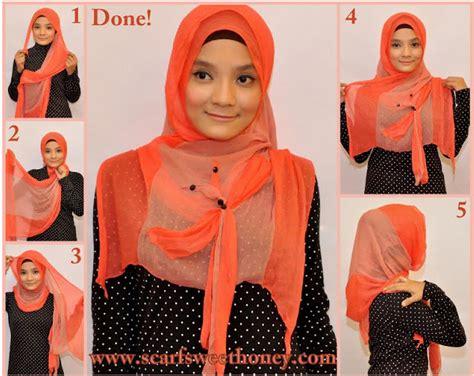 Jilbab Segitiga Instan Salsa Bow cara memakai jilbab betty bow style tutorial memakai